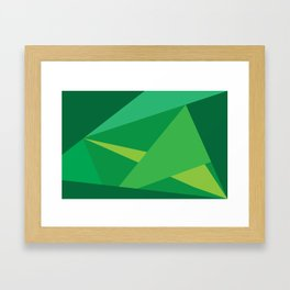 Green Fractal Pattern Framed Art Print