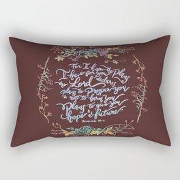Give You Hope - Jeremiah 29:11 Rectangular Pillow