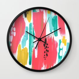 Watermelon Abstract  Wall Clock