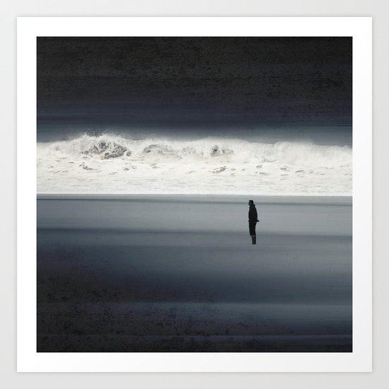 man & wave Art Print