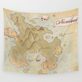 Map of Neverland Wall Tapestry