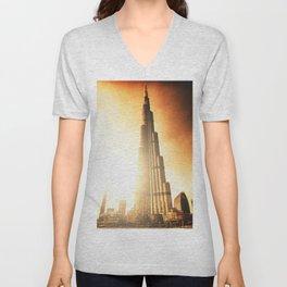 burj khalifa in dubai Unisex V-Neck