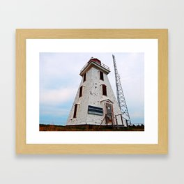 Cape Egmont Lighthouse and Radio Tower Framed Art Print