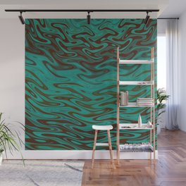Ripples Fractal in Teals Wall Mural