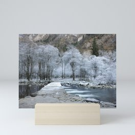 Frozen trees Mini Art Print