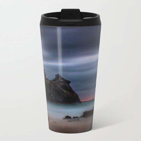 Rolling fog on the ocean Metal Travel Mug