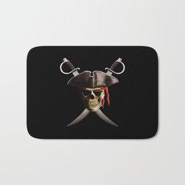 Pirate Skull And Swords Bath Mat