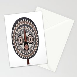 African Tribal Mask No. 2 Stationery Cards