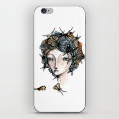 The moth girl iPhone & iPod Skin