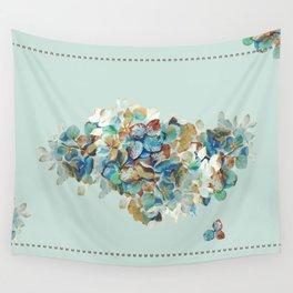 SEAFOAM Hortensia Wall Tapestry