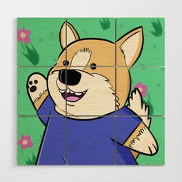 Corg Pal Wood Wall Art