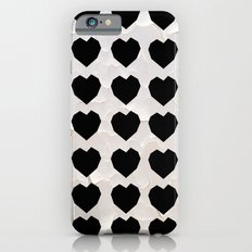 Black Hearts to Crumble iPhone 6s Slim Case