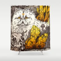 witchcraft Shower Curtains featuring Witchcraft by Angela Rizza