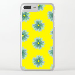 Geo Spring Flowers 02 Clear iPhone Case