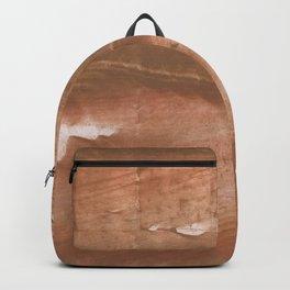 Sienna streaked wash drawing painting Backpack