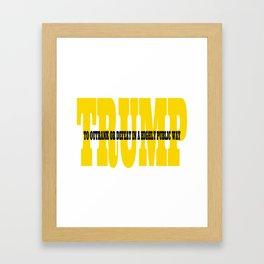 Trump Gold Definition Framed Art Print