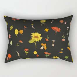 signs of fall with black background Rectangular Pillow