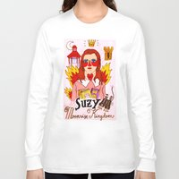 mercedes Long Sleeve T-shirts featuring Moonrise Kingdom Suzy by Ricardo Cavolo
