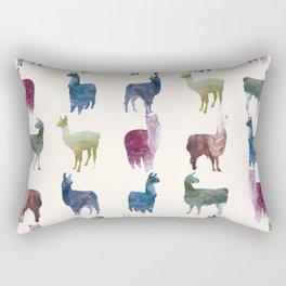 Color LLamas Rectangular Pillow
