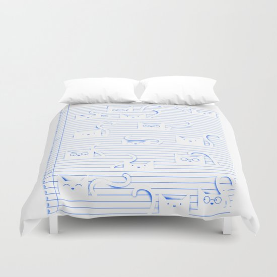 Fuzzy Homework Clean Duvet Cover By Tobe Fonseca Society6