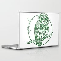 coasters Laptop & iPad Skins featuring Forest Lover's Owl by KimberlyVautrin