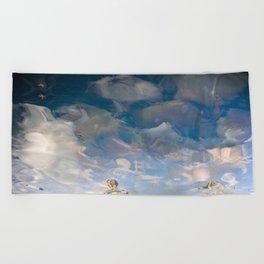 Semiotic Sky  Beach Towel