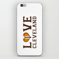cleveland iPhone & iPod Skins featuring LUV Cleveland by C. Wie Design
