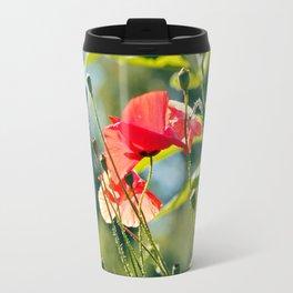 Backlit poppies Travel Mug