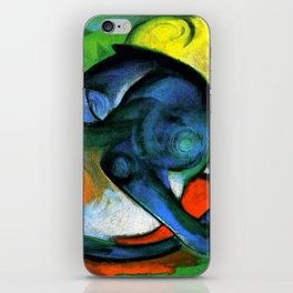 """Franz Marc """"Two Cats, Blue and Yellow' iPhone Skin"""