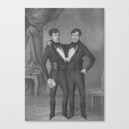Chang and Eng Bunker - Siamese Twins Portrait Canvas Print