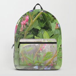 Floral Fantasy Bleeding Hearts and Bluebells Backpack