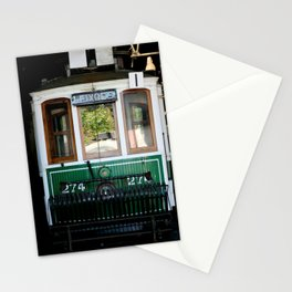 The green tram Stationery Cards