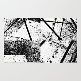 black abstract paint Rug