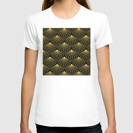 Sensual Art Deco Pattern: A Balmy, Tropical Evening T-shirt