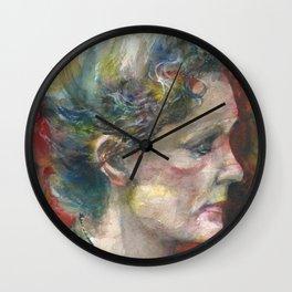 MARIE CURIE - watercolor portrait.3 Wall Clock