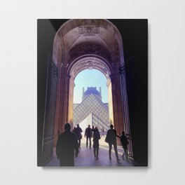 Into the Pyramid du Louvre, Paris Metal Print