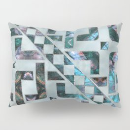 Abstract Geometric Labradorite on Mother of pearl Pillow Sham
