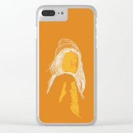 Orange girl Clear iPhone Case