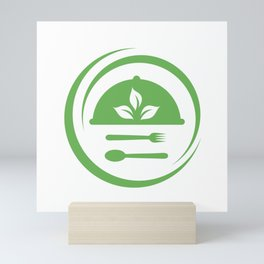 leaves symbolizing Vegetarian friendly diet by European Vegetarian Union Mini Art Print