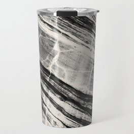 Abstract Marble - Black & Cream Travel Mug