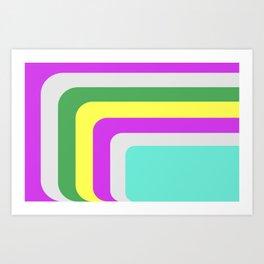 Rounded Edge Stripes Art Print