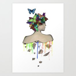 Metamorphosis Girl Art Print