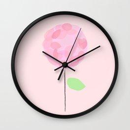 Flower Pink Wall Clock