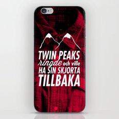 Twin Peaks Ringde iPhone & iPod Skin