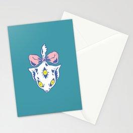 Three Eyes Cat Stationery Cards