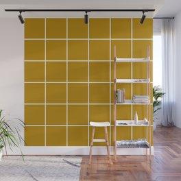 Mustard Grid Wall Mural