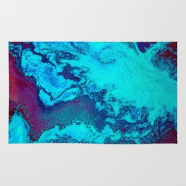 Electric Blue and Magenta Swirl (Color) Rug