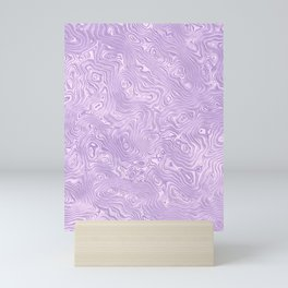 Lilac Silk Moire Pattern Mini Art Print