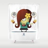 virgo Shower Curtains featuring VIRGO by Angelo Cerantola