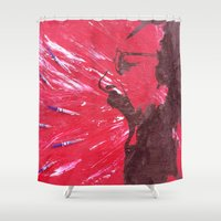 pain Shower Curtains featuring Pain by C-ARTon
